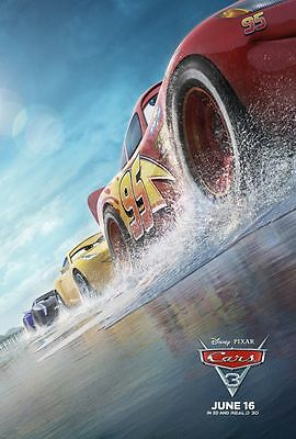 Cars 3 - original DS movie poster - 27x40 D/S 2017 Advance B PIXAR  VG