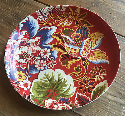 1 Williams Sonoma Spanish Floral Salad Plate Red 523429 Paisley Flowers Retired