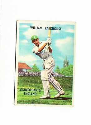 Cricket : William Parkhouse : A + B C Cricketers gum card 1959