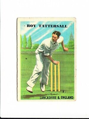 Cricket : Roy Tattersall : A + B C Cricketers gum card 1959