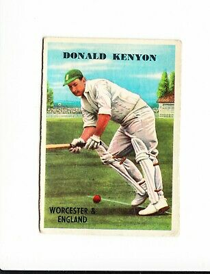 Cricket : Donald Kenyon : A + B C Cricketers gum card 1959