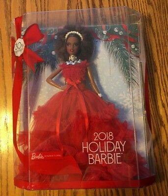 NIB Barbie 2018 Holiday Signature Collector Doll Nikki African American
