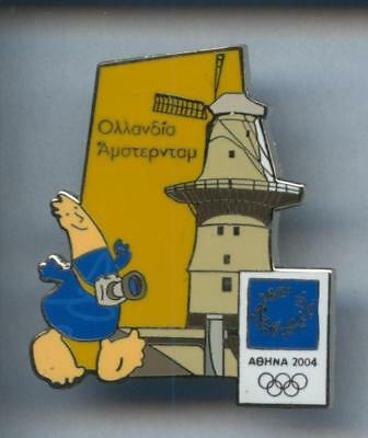 Rare Pins Pin's .. Tourisme Moulin Mill  Olympique Olympic 2004 ¤9C