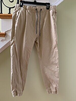 Boys Aeo Twill Tan Joggers M Teens American Eagle Outfitters