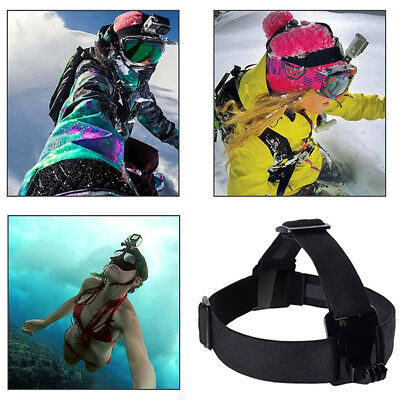Adjustable Head Strap For Go Pro Camera 2 3 3+ 4 Elastic Mount Ski Hat FS*