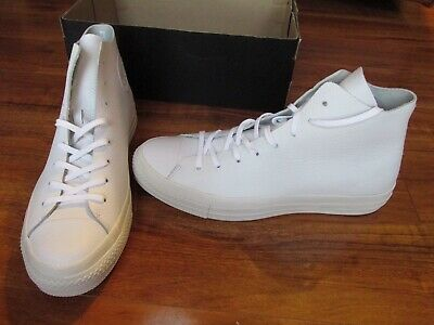 a579490d0c83 NEW Converse CT All Star Prime Hi Shoes Mens Size 10 White Leather 154837C   135
