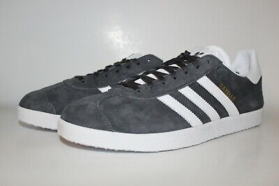 91f48bd0b523 Adidas Originals Gazelle Solid Grey White Classic Men Sneaker BB5480 Sz  10.5 NIB
