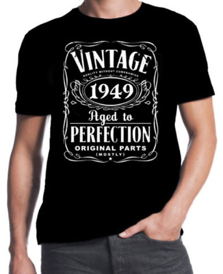 b81a90602 T-Shirt 70Th Birthday Vintage Aged To Perfection 1949 70 Years Old Gift  Present