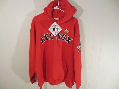 pretty nice 9e0bb cb7f7 BOSTON RED SOX Hooded Sweatshirt Men's XL 2004 World Series Red Hoodie  Majestic
