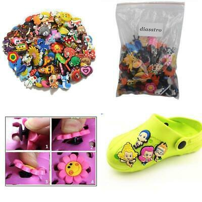 Joytime Shoecharm Lot Of 50 Mixed PVC Different Shoe Charms For Croc and Jibbitz