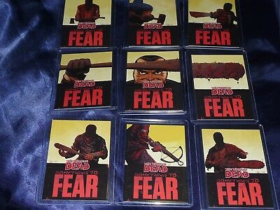 THE WALKING DEAD Comic Series 2 - CHASE Card Set SOMETHING TO FEAR Negan