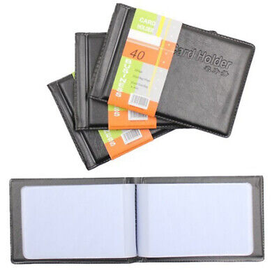 Mens PU Leather Business Vintage ID Credit Card Holder Womens Book Case Bag New