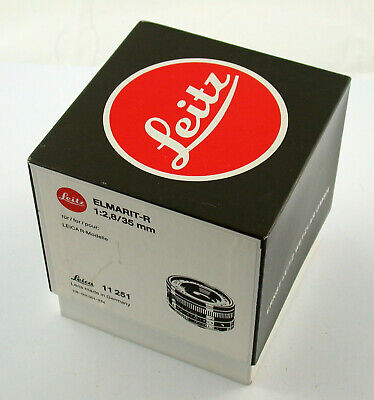 LEICA R Elmarit 2,8/35 35 35mm F2,8 2,8 Germany E55 adaptable M A7 EOS TOP boxed