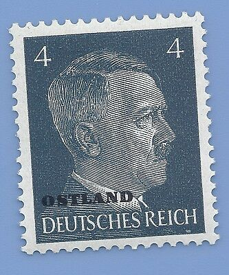 Nazi Germany Third Reich Overprint Ostland Estoina 4 Hitler stamp MNH WW2 ERA