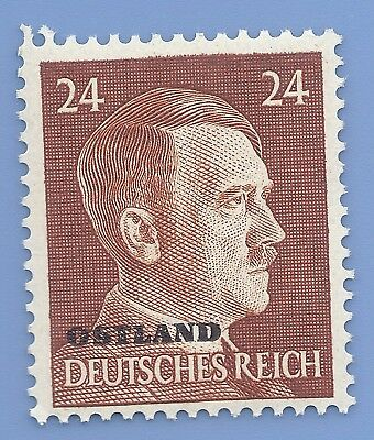 Nazi Germany Third Reich Overprint Ostland Estoina 24 Hitler stamp MNH WW2 ERA