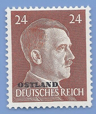 Nazi Germany Third Reich Overprint Ostland Estoina 24 Hitler stamp  WW2 ERA