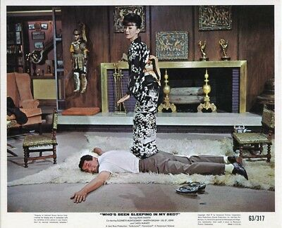 DEAN MARTIN/YOKO TANI orig 1963 lobby color photo WHO'S BEEN SLEEPING IN MY BED