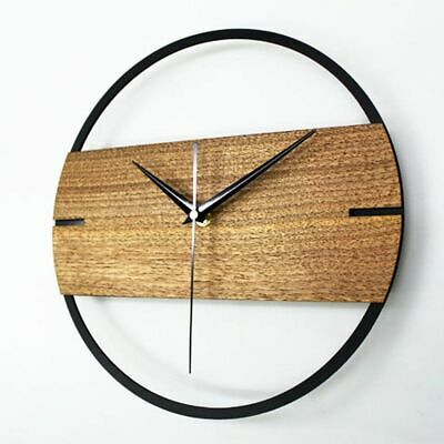 Vintage Wall Clock Simple Modern Design Wooden Clocks for Bedroom 3D Stickers Wo