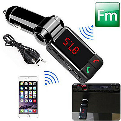 Car Kit MP3 Player Wireless Bluetooth FM Transmitter Radio With 2 USB Port to S*
