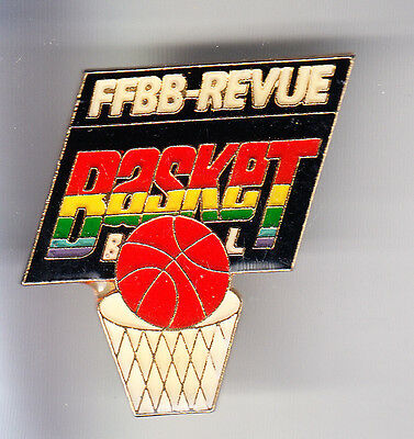 Rare Pins Pin's .. Sport Basket Ball Club Team Presse Ffbb Revue Magazine ~C1