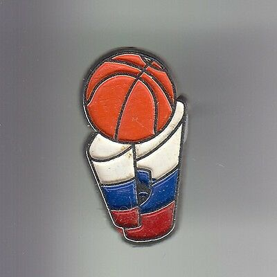 Rare Pins Pin's .. Sport Basket Ball Drapeau Flag Club Team Russie Russia ~C7