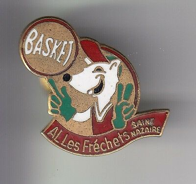 Rare Pins Pin's .. Sport Basket Ball Club Team Al Les Frechets St Nazaire 44 ~C7