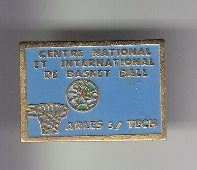 Rare Pins Pin's .. Sport Basket Ball Centre International Arles Sur Tech 66 ~C7