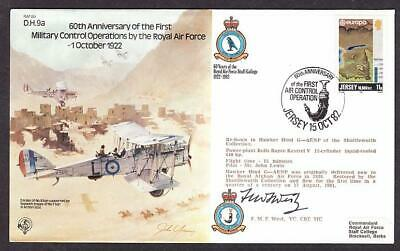 Signed Lt Ed Cover Ww1 Pilot Air Commodore Freddie West Victoria Military Cross