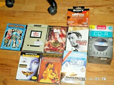 Junk drawer lot dvds, blank media, phone accessories and more