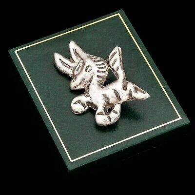 Antique Vintage Art Deco Retro Silver Mexican Taxco Figural Donkey Pin Brooch