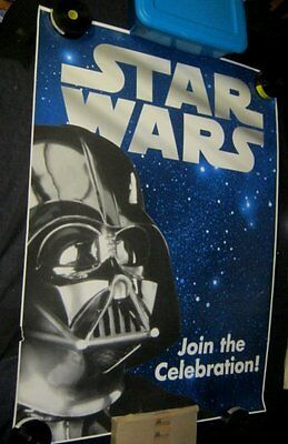 Original 1997 STAR WARS TRILOGY special edition TOYS R US Display Poster