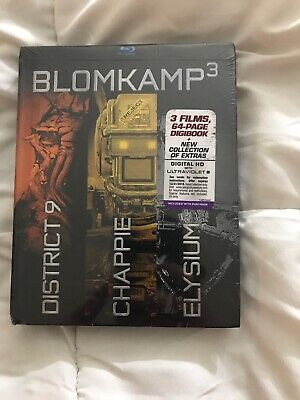 Chappie/District 9/Elysium (Blu-ray Disc, 2015, 3-Disc Set, With Digital Copy.