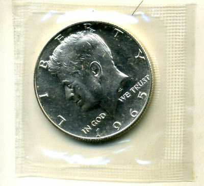 Silver 1965 P Sms Kennedy Half Dollar Gem Bu In Cello Government Sealed Coin#786