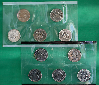 2004 P and D State Quarters 10 Satin Coins Mint Set BU Statehood 25c State Coin
