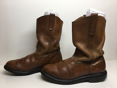 054a10f2a7f MENS RED WING Work Boots Brown Leather Suede Vibram Sole Size 9.5 ...
