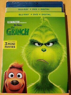 NEW The Grinch 2018 Blu-ray/DVD NO DIGITAL BLUERAY disc bluray kids movie