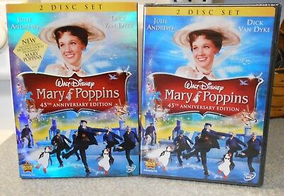 Mary Poppins (DVD 2009 2-Disc 45th Anniv ) RARE 1964 BRAND NEW W BUENA STAMP