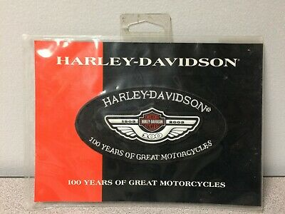 Harley Davidson 100th Anniversary Black Oval Patch NOS Motorcycle