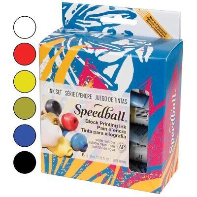Speedball Block Printing Ink Set  - 6-Color Basic