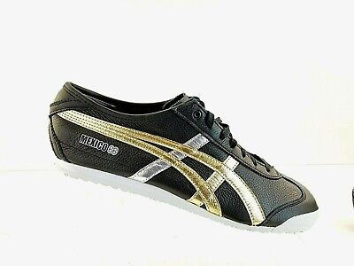 the latest 8af79 06dff ASICS ONITSUKA TIGER Mexico 66 Black Gold Men RunningShoes Sneakers D5V2L  Sz11.5