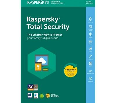 Kaspersky Total Security 2019 UK [1 PC, 1 Device] Digital Email Delivery