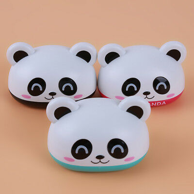 Panda Shape Cover Soap Box Holder Dispenser With Drain Home Bathroom LG