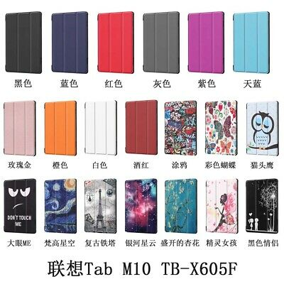 Protective PU Leather Flip Stand Cover Case For 10.1'' Lenovo Tab M10 TB-X605F