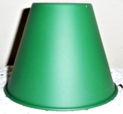 Vintage Brass Painted Green Shade for Miniature Candle Lamp