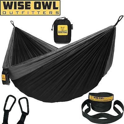 Wise Owl Outdoor Heavy Duty Camping Portable Hanging Travel Parachute Hammock
