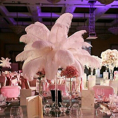 10/20/50pcs Large Ostrich Feathers Costume Birthday Wedding Party 30-35cm Decors