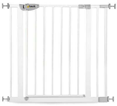 Hauck Barrière de sécurité squeeze Handle Safety Gate, Largeur 75–95 cm, blanc