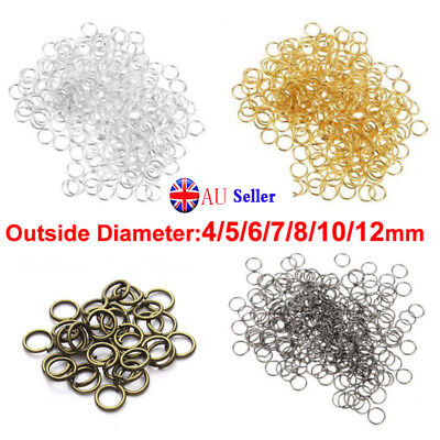 100pcs 3-14mm Open Jump Rings Split findings Jewelry Making Craft Round Oval GA