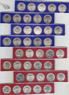 2007 P & D State Quarter 40 Coin roll from US Mint Set BU Statehood Cello l@@k