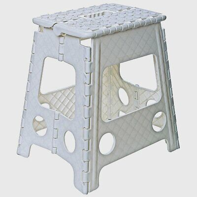 New Heavy Duty Easy Fold Away Sturdy Large Folding Plastic Step Stool For Home